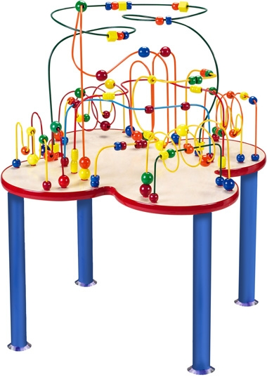 Children play for hours on end, while learning basic skills such as color recognition, counting, eye-hand coordination, and cooperative play. And multiple kids can play at once, making this table perfect for group play!