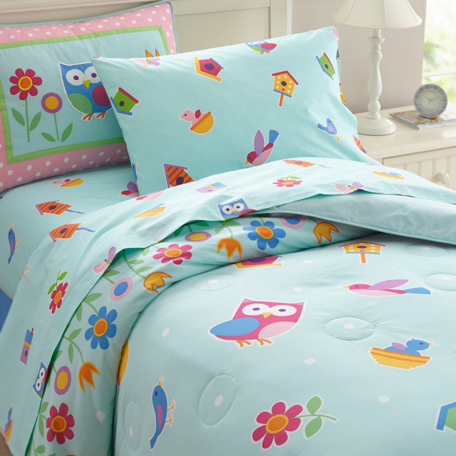 We have wonderful girls bedding and this Birdie pattern is very pleasing to little girls!