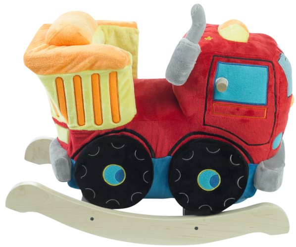 Located on the back of the engine's cab your little worker will find 4 colored shapes that activate original songs that teach the ABC's, the 123's, identify colors, shapes and more.  Baby rockers are true education games, which enhance cognitive and brain development.