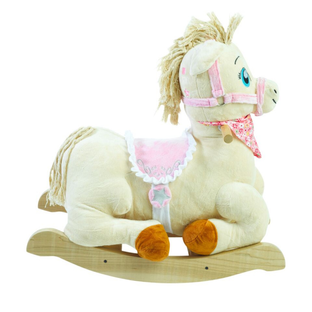 Press Princess Pony buttons on her head to activate original songs that teach ABC, learn to count from 1-10, learning of colors, shapes and much more.